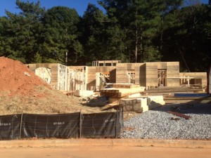 Hadley Walk Model Home Under Construction